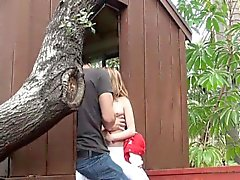 Cheating Blonde Caught Sucking Dick In The Garden