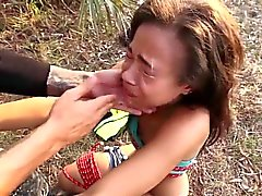 Teen bdsm fucked outdoors