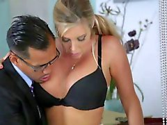 AMWF Samantha Saint interracial threesome with Asians
