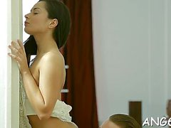 Dangler handles a frisky russian brunette perfection anna g