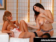 Penthouse Pet Jelena Jensen come coño de Alice Wonder!