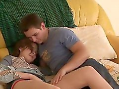 Wild oral job with hot beauty