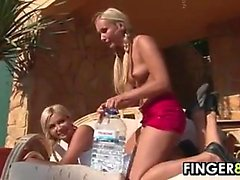 Blonde Lesbian Tennis Players Strip Down