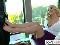Aaliyah Love BBC Footjob Interview