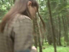 Blowjob de Aventura en el bosque