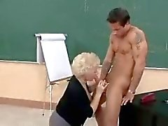 Hot Granny Cougar Teacher Banging In Class