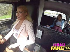 Female Fake Taxi Big tits student tongue fucks blonde hot bush