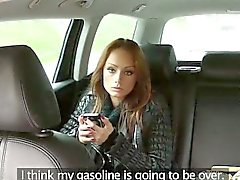 Petite gal passenger suck the drivers cock and fucked hard