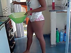 my wife in kitchen