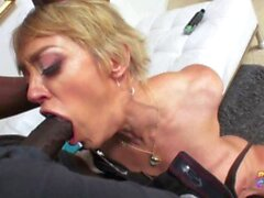 'Blonde MILF loves BBC in her tight asshole'