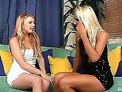 Sexy blonde Addison has never had her pussy eaten out by another lady before, but Lexi Belle is determined to turn Addison out any way she can! It starts with a couple of massive vibrators and then ends in a finger-banging tongue lashing lesbian lickfest