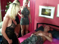 German Daughter teach Sex by Step Mom and Aunt in Foursome