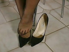 Shoeless my beautiful jimmy choo high heels