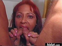 Euro redhead wants more than one dick