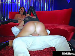 Penthouse pet Nikki Benz & a mp jessica jaymes Aktie Ladestock & a mp cum!