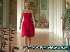 Alison Angel Een Sexy Red Dress Acts Like A Fashion Model