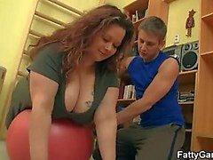 Puta Gordas fucks her fitness instructor